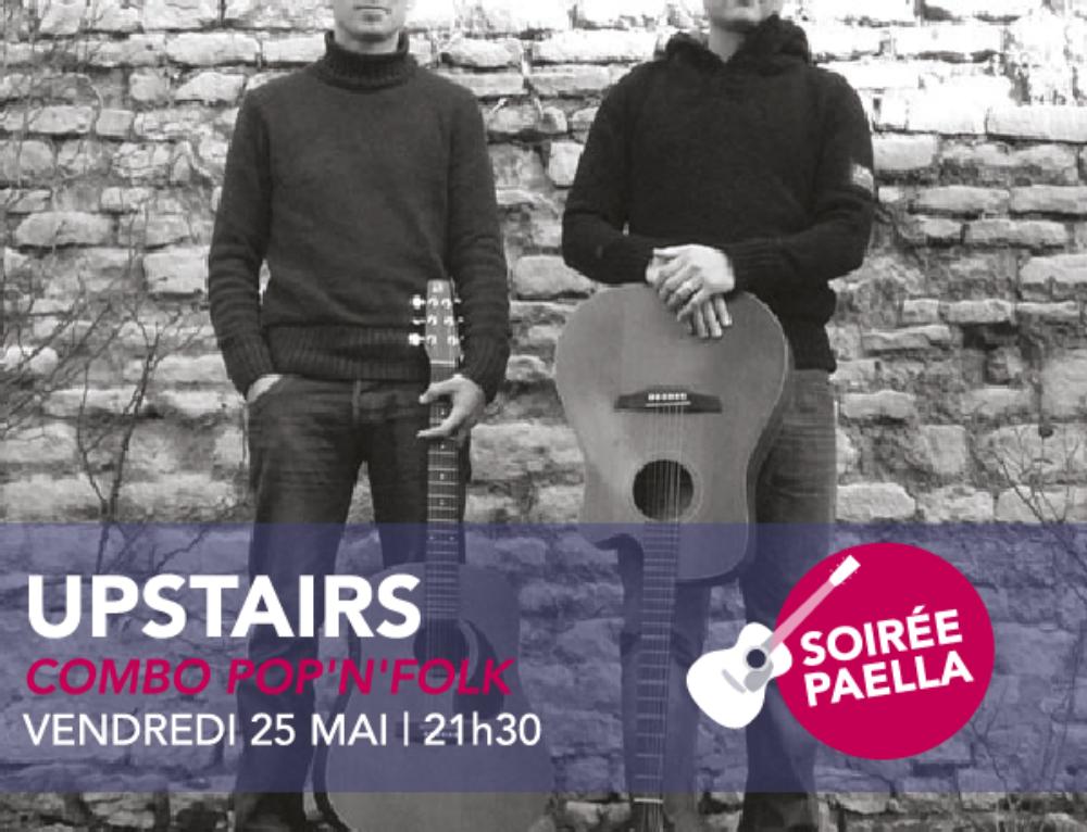 Concert du vendredi 25 mai | Upstairs | Combo Pop'n'Folk | 21H30